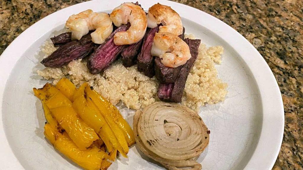 Chimichurri Skirt Steak and Shrimp