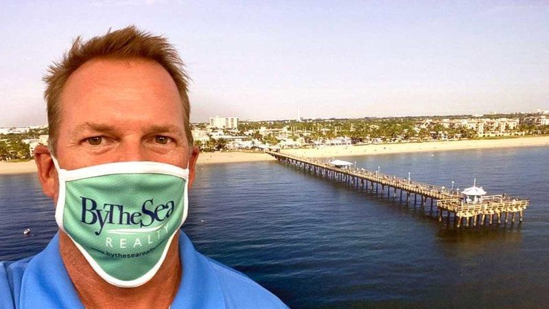 Rich Barnhart wearing company COVID-19 mask